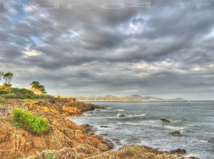 HDR example sea and clouds