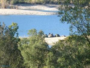 Lac St-Cassien et campeurs (photo non retouchée)