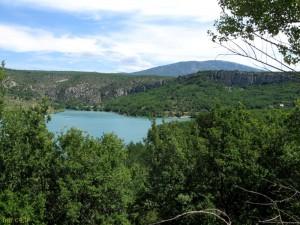 Lac de Sainte-Croix de loin